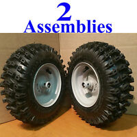PET-388 Set Of 2 410x350x6 Snow Blower Thrower Tire Chains 2 Link Spacing