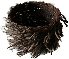 Woven Twig Wooden Basket Farmhouse Decorative Home Rustic