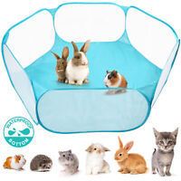 Small Animals Tent Cage Breathable Pet Playpen Pop Open Exercise Fence Rabbits