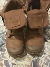 Palladium Pampa Sport Cuff Lace up Chocolate Leather Brown Boots Men Size 8 NEC