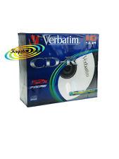 More details for 10 blank verbatim recordable cd-r cdr 700mb 52x slim