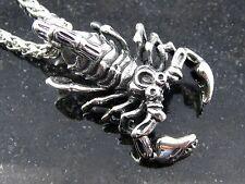 Edelstahlanhänger Skorpion Sternzeichen Kettenanhänger Tierkreiszeichen Anhänger