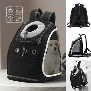 Pet Dog Carrier Puppy Backpack Travel Mesh Front Travel Portable Shoulder Bag UK