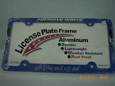 License Plate Frame, American Indian and Proud of It!, Blue