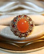 Chuck Clemency NYCII Sterling Silver Orange Topaz citrine peach Carnelian Ring
