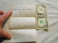 1880 W. H. Walker, Boots - Beebe & Tillinghast Dry Goods West Valley NY Receipt