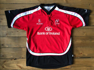 """KUKRI ULSTER RUGBY JERSEY Shirt Red Black Away Training SIZE: XXL 46"""" CHEST"""