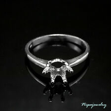 3 pcs. of Ring Setting Sterling Silver 6 mm. Round. size 9