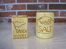 VINTAGE CERAMIC / PORCELAIN CS11--USA--CRYSTAL SALT AND BLACK PEPPER SHAKERS