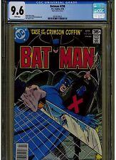 BATMAN #298 CGC 9.6 NEAR MINT +1978 MARK JEWELERS INSERT VARIANT WHITE  PAGES