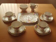 Vintage Royal Standard Hand Painted Floral Design Tea Set.