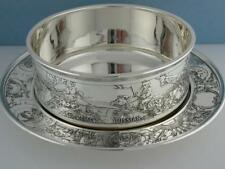 Sterling KERR Child's Bowl & Underplate American Russian African Indian Chinese