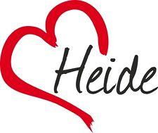"AUTO Adesivo ""Heide"" Adesivo Città Germania circa 9x11cm konturge."