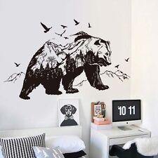 New Mountain Black Bear Animal Sticker Living Room Bedroom Decoration Murals