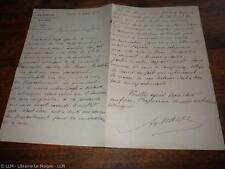 1880.Lettre autographe (La lanterne.Huon  Penanster.Cotes du nord).Armand Mayer