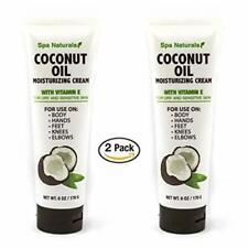 Spa Naturals Coconut Oil Moisturizing Cream with Vitamin E -Pack of 2