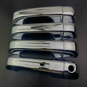 Set of 4 Chrome Exterior Door Handle Covers Fit 2019-2021 RAM 1500 All New Model
