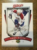 2006-07 UD MVP - SAKU KOIVU #152 Montreal Canadiens SP