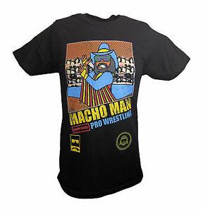 Macho Man Randy Savage 8 Bit Black T-shirt