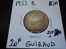 20 francs bronze alu G.Guiraud de 1952B  (n1)
