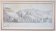 Walter John Trower,, obispo (1804 – 1877) Paisaje Acuarela, clotenberg, Rin