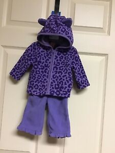 Children's Place Fleece outfit Hoodie Pants  3/6 Months Baby Toddler Girl