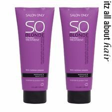 SO Blonde Toning Treatment DUO Treatment 2 x 200ml  Salon Only