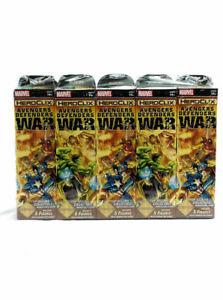 HeroClix Avengers Defenders War SEALED BRICK OF 10 BOOSTER PACKS MARVEL NEW