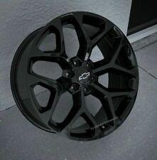 Gloss Black Snowflake Chevy Silverado 1500tahoe Truck Wheels Set 20x9