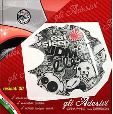 1 Adesivo Resinato Tappo Benzina 3D BRABUS Smart for two 450 452 Sticker Bomb bk