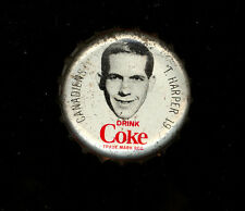 1964 65 COCA-COLA COKE BOTTLE CAP WITH CORK TERRY HARPER MONTREAL CANADIENS