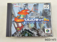 64DD Sim City 64 Complete Nintendo 64 Simcity DD N64 Japan JP US Seller