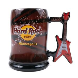 Hard Rock Cafe Minneapolis Mug Guitar Handle Ceramic Restaurant Souvenir Cup