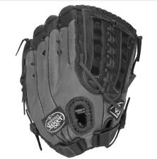 "Louisville Slugger Genesis 13.5"" Softball Glove, Black Gunmetal Right Hand Throw"