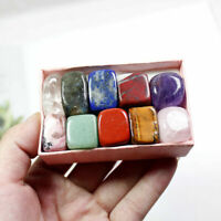 10 Pcs Natural Chakra Tumbled Stone Mineral Crystal For Healing Feng Shui Decor