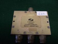 Mecca 803-4-1.400Wp-M01 Divider Nsn 5895-01-588-5102 3 way N Connectors - Used.