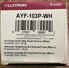 Lutron Ayf-103P-Wh / Ayf-103Ph-Wh Ariadni 1P/3-Way Fluorescent Capable Dimmer