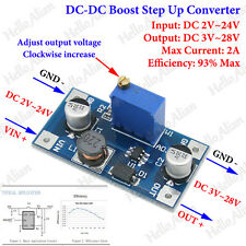 2A DC-DC Boost Step up Volt Converter Power Supply 2V-24V to 3v 5v 6v 9v 12v 25v