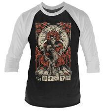 Opeth 'Haxprocess' 3/4 Length Sleeve Raglan Baseball Shirt - NEW & OFFICIAL