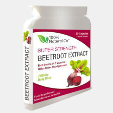 Beetroot Capsules - Full 7500mg EXTRACT - Max Strength - 60 Capsules