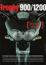 P + TRIUMPH Trophy 900 / 1200 + Prospekt flyer + 1 Blatt / 2 Seiten + aus 1991