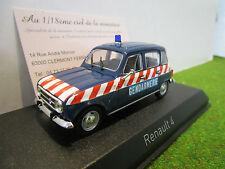 RENAULT 4L de 1968 GENDARMERIE au 1/43 NOREV 510049 voiture miniature collection