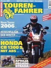 TF0510 + Test HONDA CB 1300 S ABS + APRILIA Pegaso Strada + TOURENFAHRER 10/2005