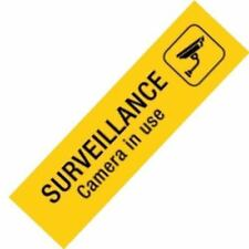 1 x APLI Sign Self Adhesive SURVEILLANCE Yellow Ref. A15100 - #A8