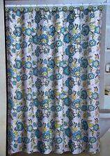 13-Piece Floral Fabric Bathroom Shower Curtain Set + 12 Matching Ceramic Hooks