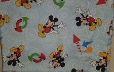"Vintage Disney Twin Size Blanket Mickey Mouse Arrows Bedding Disney 60"" x 45"""