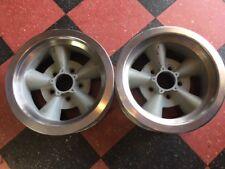 Original Pair 2 Crestline Torque Thrust Aluminum Mark Ii Wheels 14 X 6