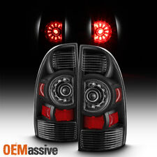 [Black Edition] Fits 05-15 Toyota Tacoma LED Tail Lights Brake Lamps Replacement