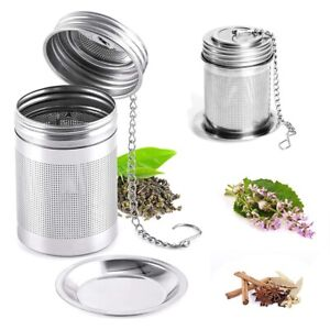 Tea Ball Infuser Filter & Cooking Infuser Extra Fine Mesh Tea Infuser Threaded~