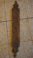 1 plaque de propreté en bronze haut : 51,3 cm,  larg : 7,3 cm ornements déco